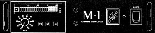 M-1 Personal Mic Pre Front Panel